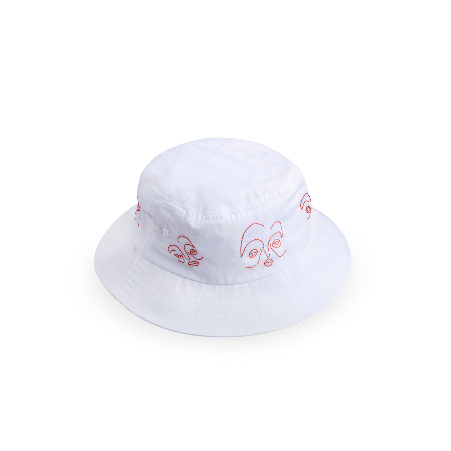 Red Line Portraits Bucket Hat