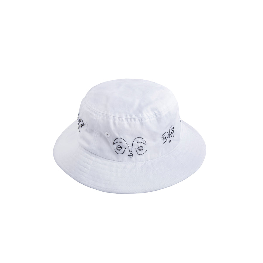 Black Line Portraits Bucket Hat