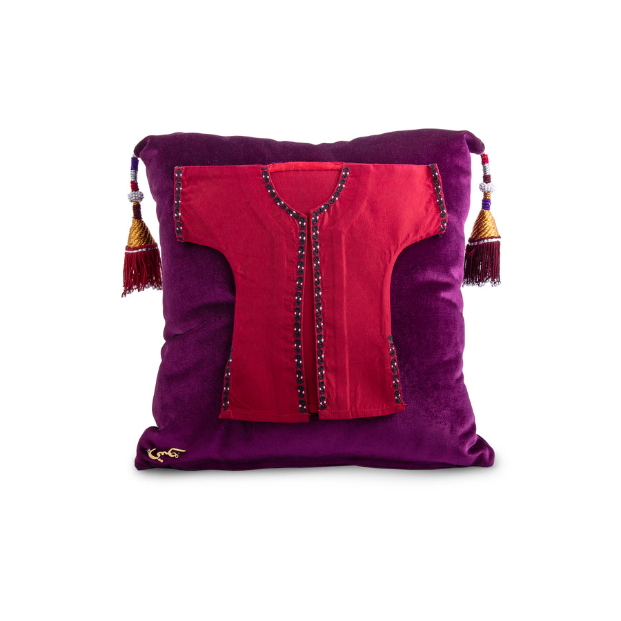 Red Silk Garment Cushion