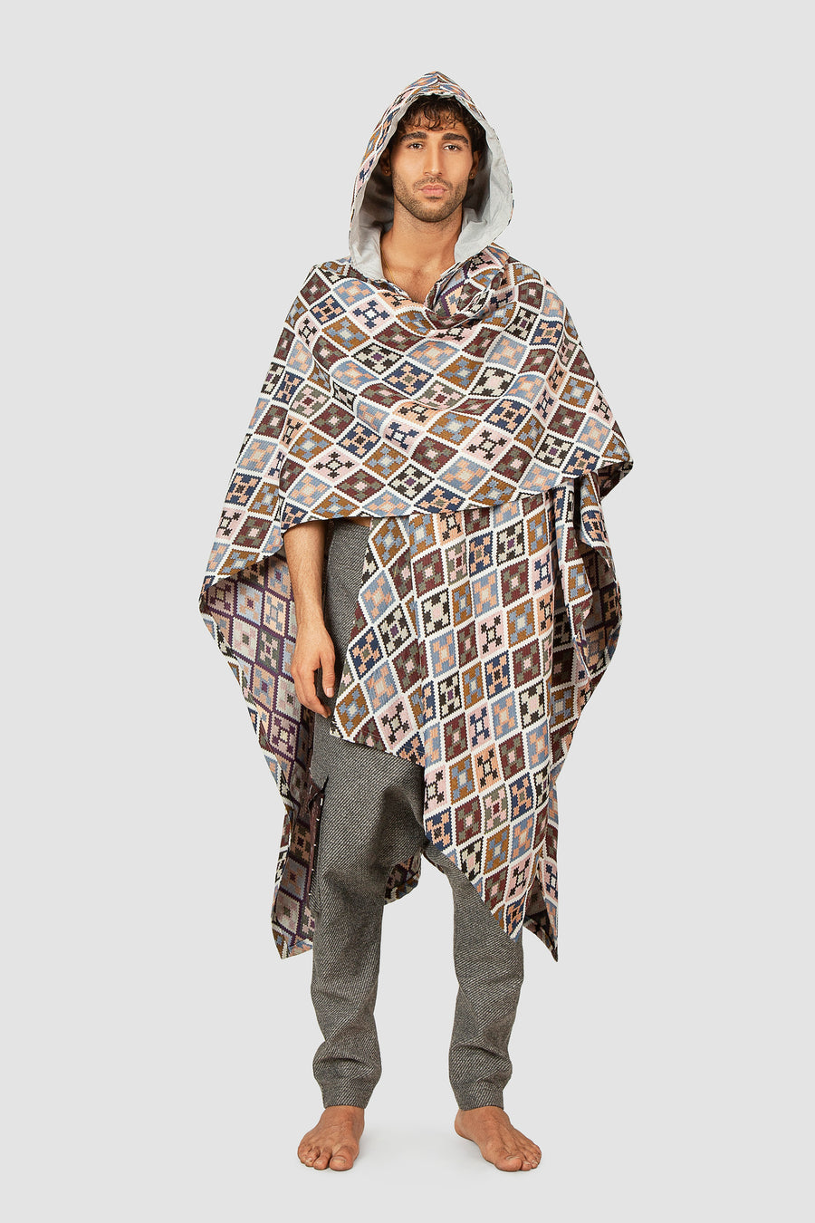Reversible Diamond Poncho