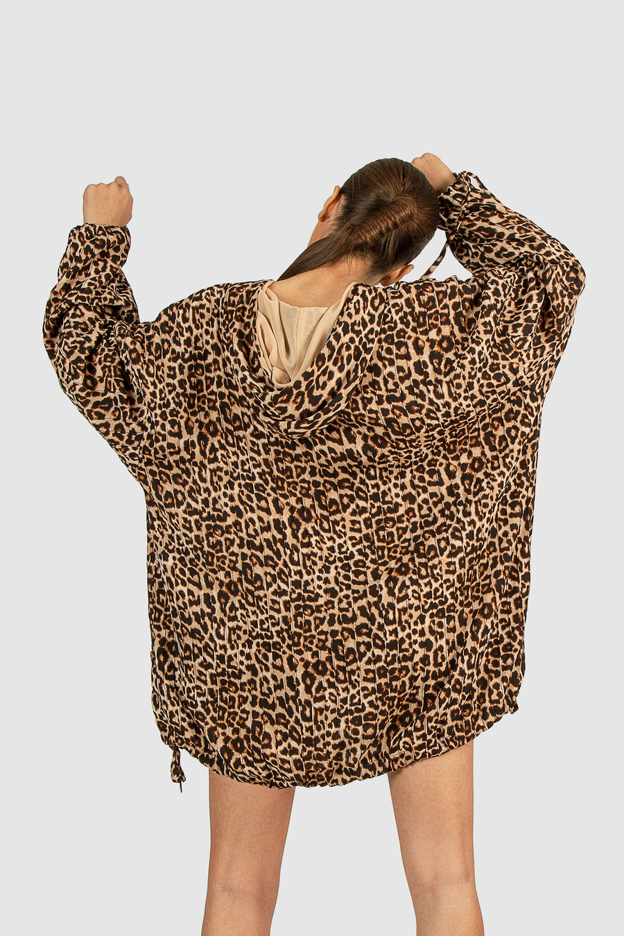 Loose Leopard Jumper Shirt