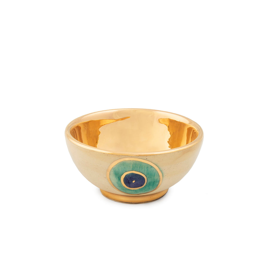Evil Eye Gold Plated Bowl (Small)
