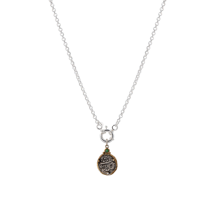 Pendant Anchor Coin Necklace