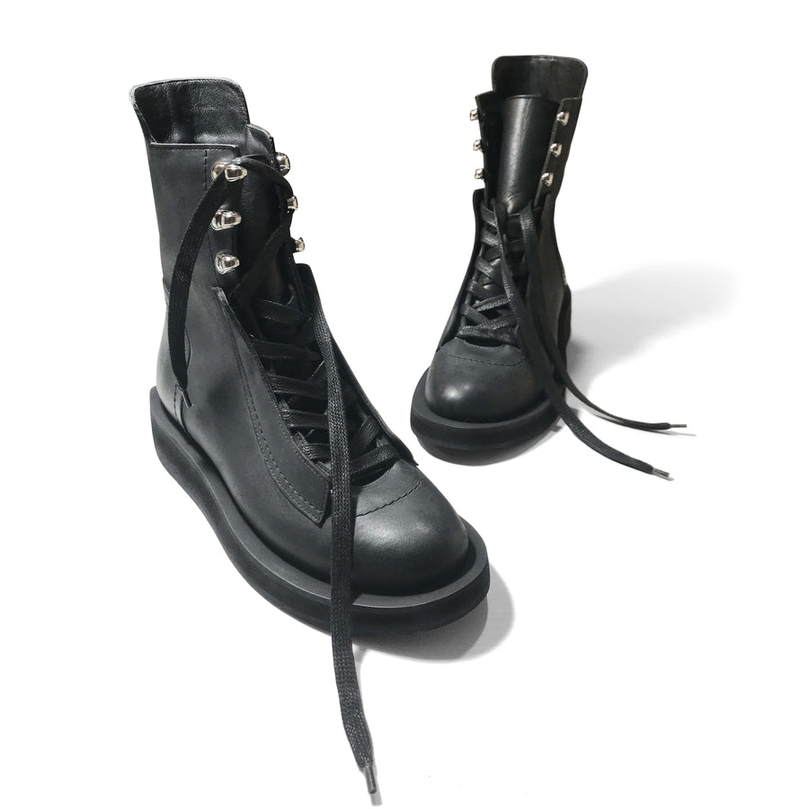 Black Lace-up Anko Boots