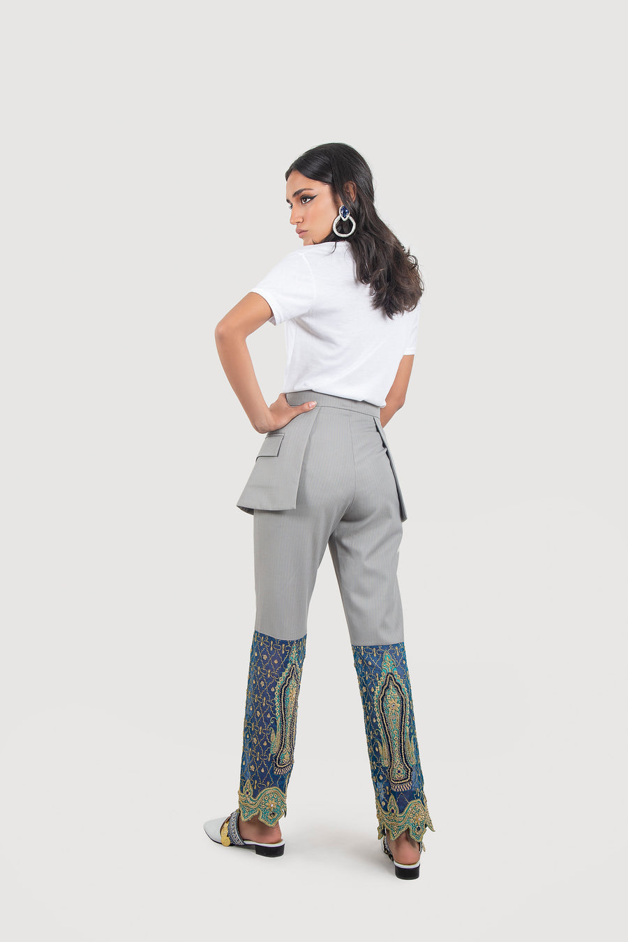 Nomadic Needlecraft Gray Trousers