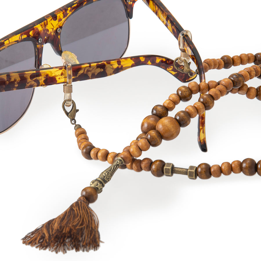 Wooden Sunglasses Chains With Tassel