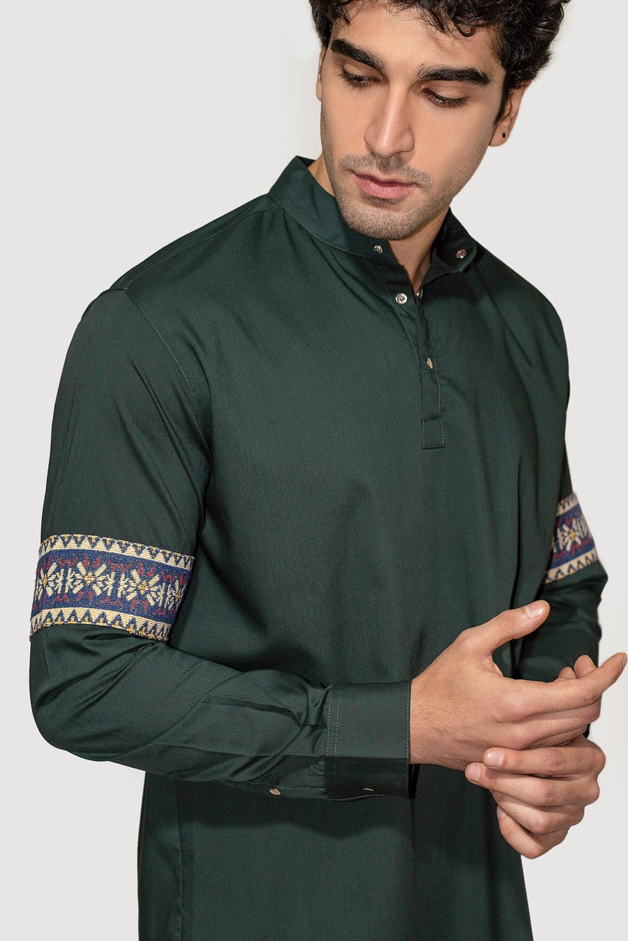 Embroidered Sleave Shirt
