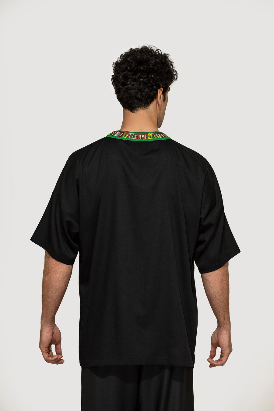 Green Embroidered Nomadic Shirt