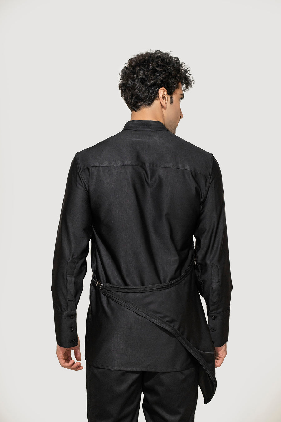 Black Kangaroo Pocket Shirt
