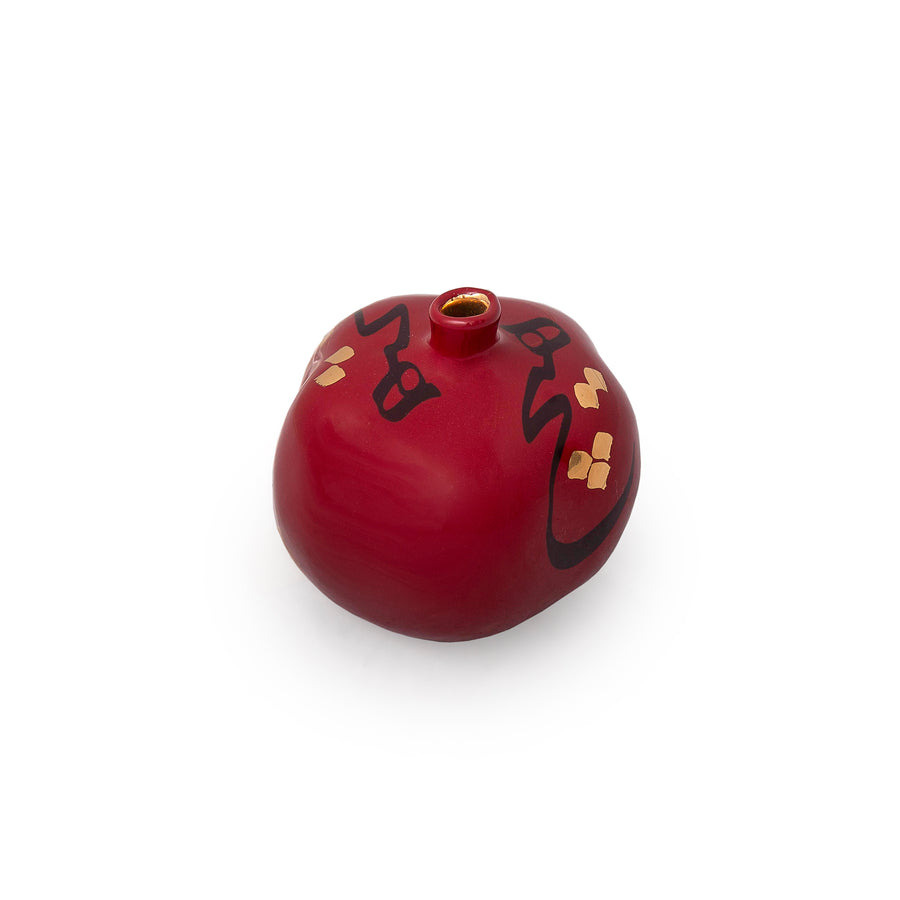 Hich Crimson Pomegranate Sculpture