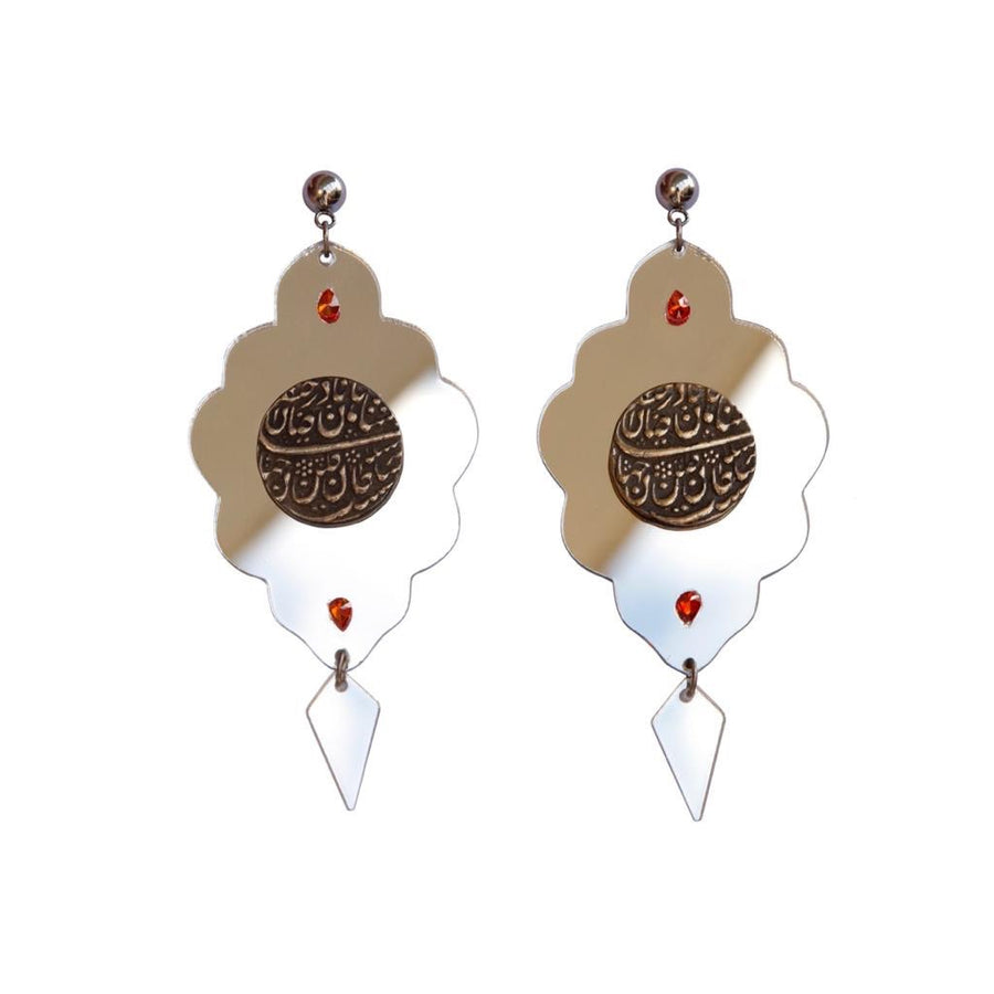 Avineh Coin And Mirror Earings