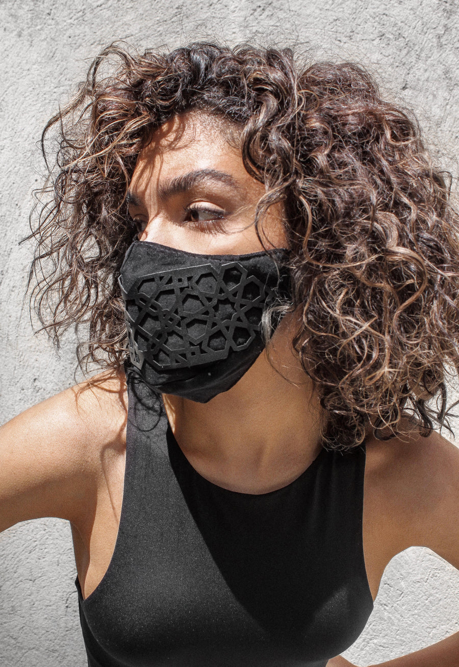 Shamseh Vegan Leather Mask