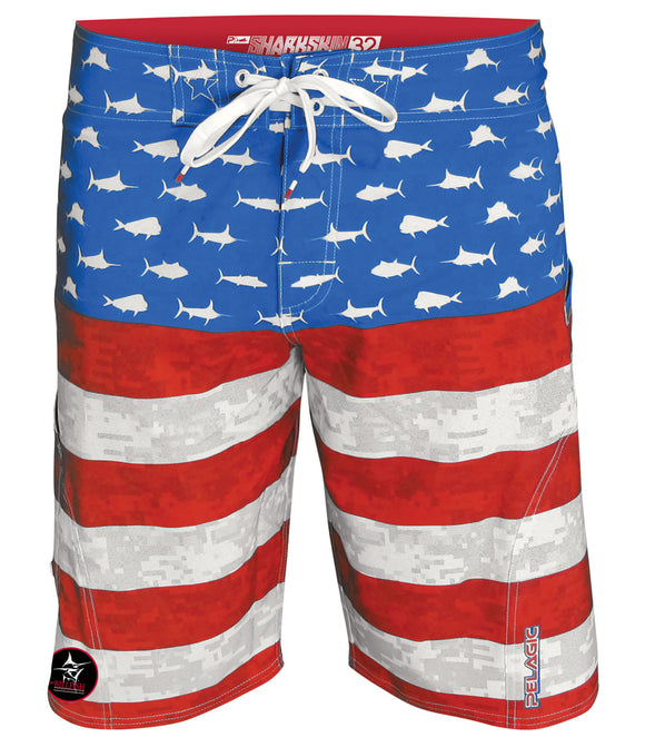 Pelagic Americamo Flag Boardshort