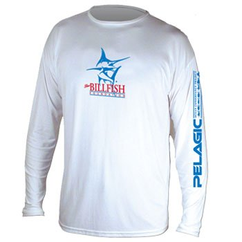 White Pelagic Long-Sleeved UV T-Shirt