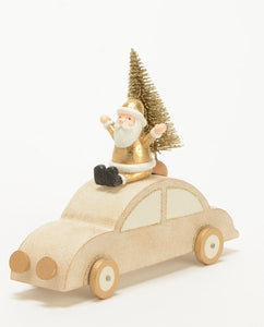 Voiture en bois gold 2 assorties - Amadeus