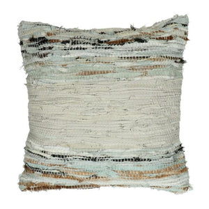 Coussin cuir coton - Pomax