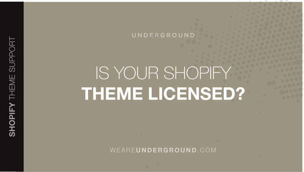 Is your Shopify theme licensed?
