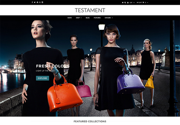Shopify Testament Theme