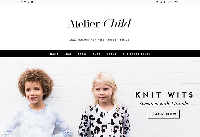 Atelier Child - Testament Shopify theme