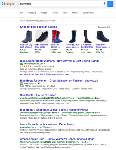 Blue Boots Search Results