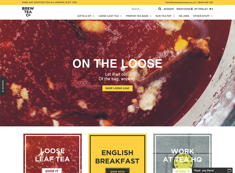 Brew Tea co - Icon Shopify theme