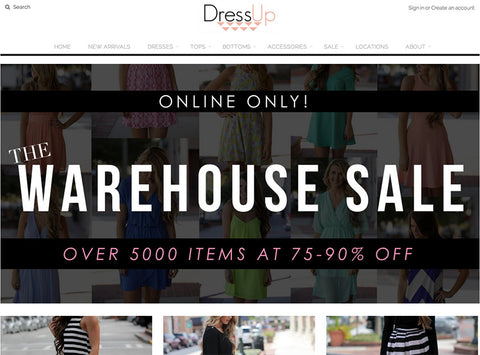 Dressup - 5 Examples of stores using the Vantage Shopify Theme