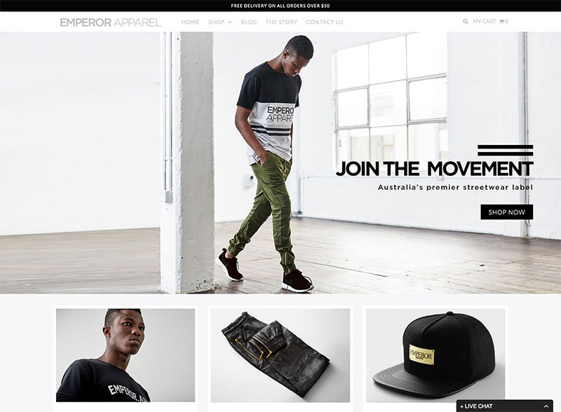 Emperor apparel - Icon Shopify theme