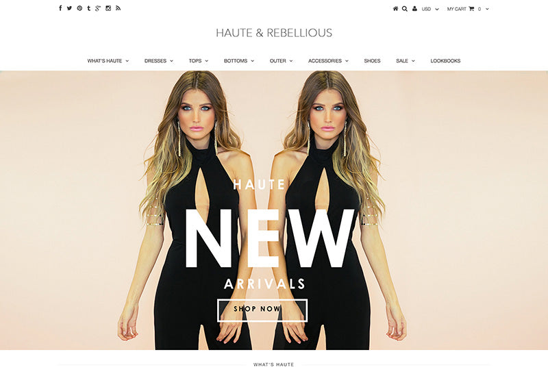 Haute and rebelilous - Testament Shopify theme