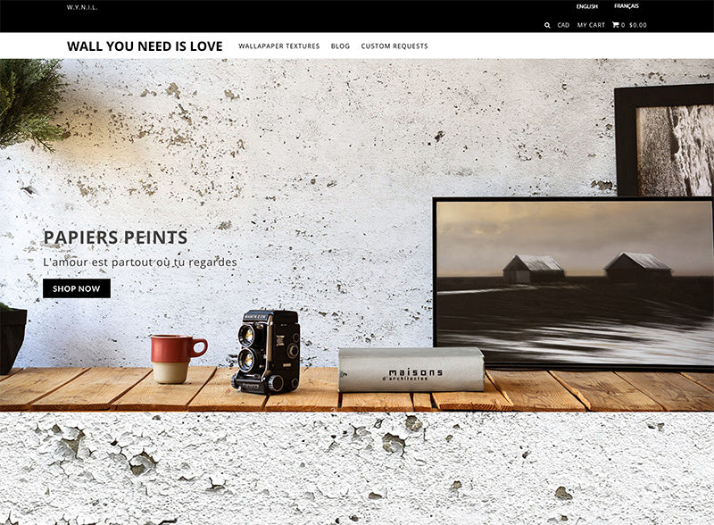 Wall you need is love - Icon Shopify theme