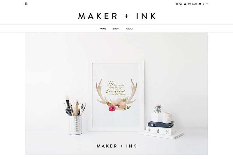 Maker + Ink - testament Shopify theme