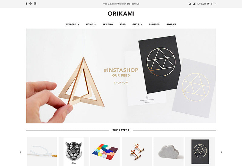 Orikami - testament Shopify theme