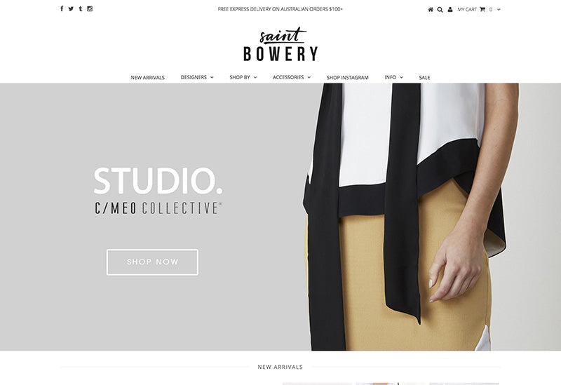 Saint bowery - testament Shopify theme
