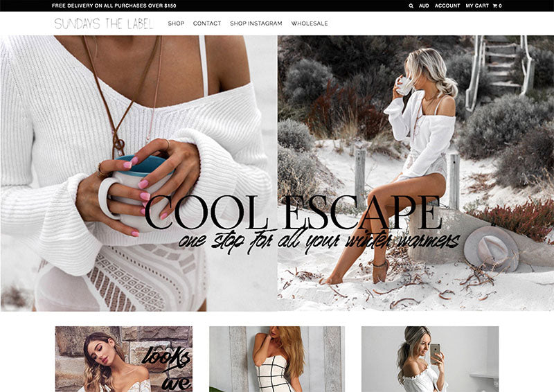 Sundays the label - Icon Shopify theme