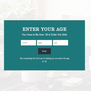 Add an age verification screen to my store Shopify theme