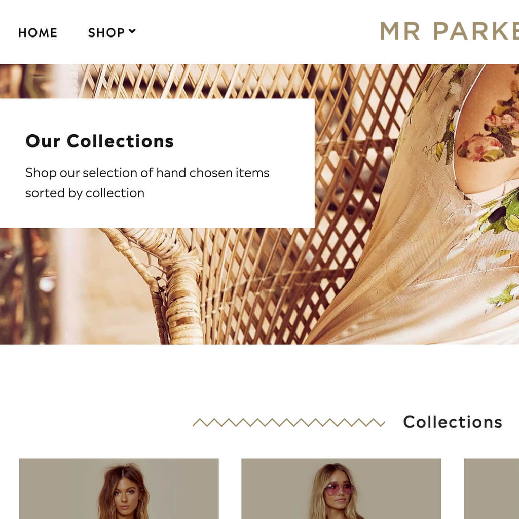 Add custom collection pages with configurable sections Shopify theme