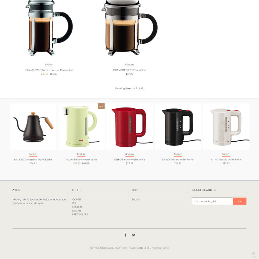 Add a featured products carousel to the bottom of my pages Shopify theme