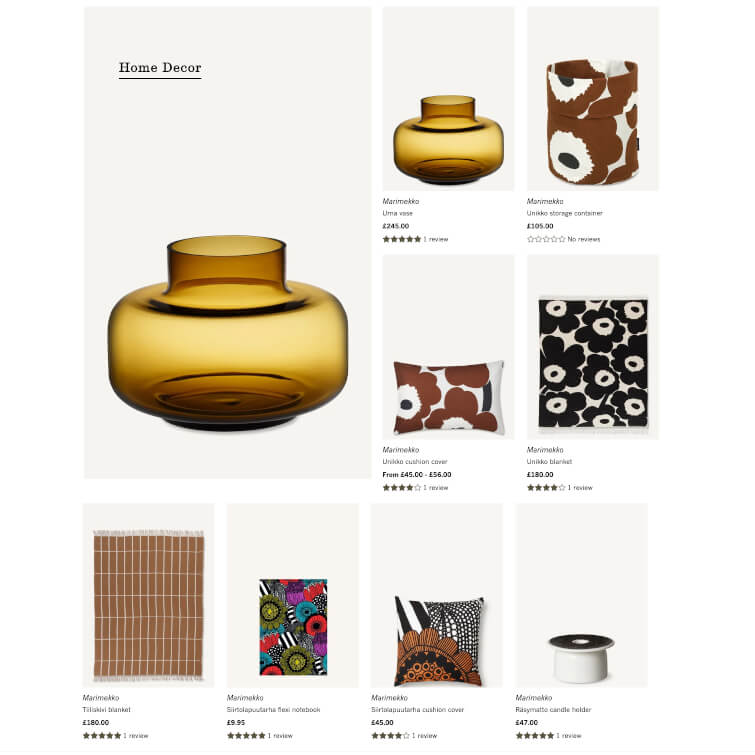 Add a page displaying featured collections Shopify theme