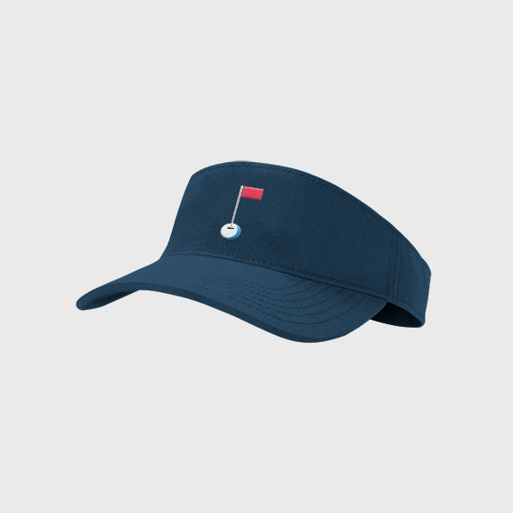 Visor: Navy (Pin Logo)