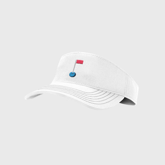 Visor: White (Stitching)
