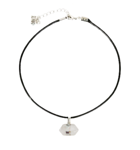 Rachel Zoe - Small Hex Crystal Pendant Necklace