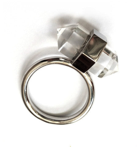 Hunter Gatherer Jewelry - Double Point Quartz Ring - Luxe Cartel