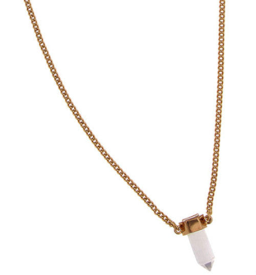 Jewelery - Rachel Zoe - Small Hex Crystal Pendant Necklace