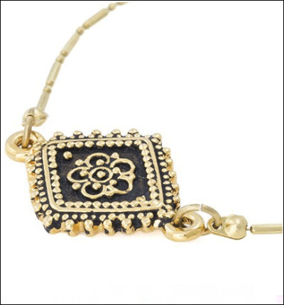 Vanessa Mooney - Diamond Lace Gold Bracelet - Luxe Cartel