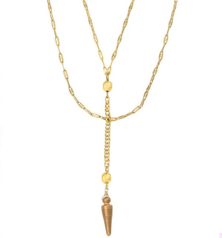 Jewelery - Vanessa Mooney / Long Nights Double Chain Dagger Necklace