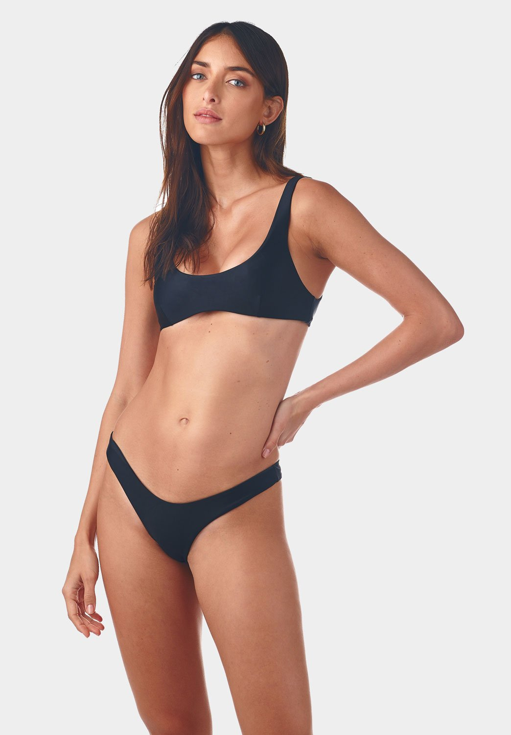 INC Swim - Low Back Crop x High Cut Pant Bikini - Luxe Cartel
