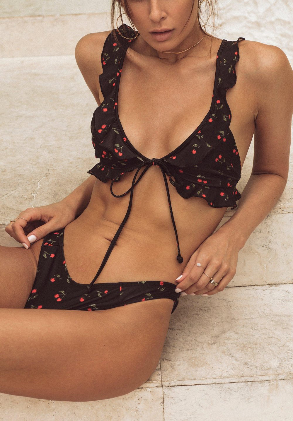 For Love & Lemons - Mon Cheri Top x Hi Rise Btm Bikini - Luxe Cartel
