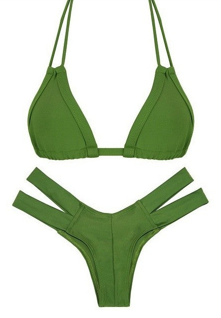 Montce Swim - Cheeky Olive Bikini Set