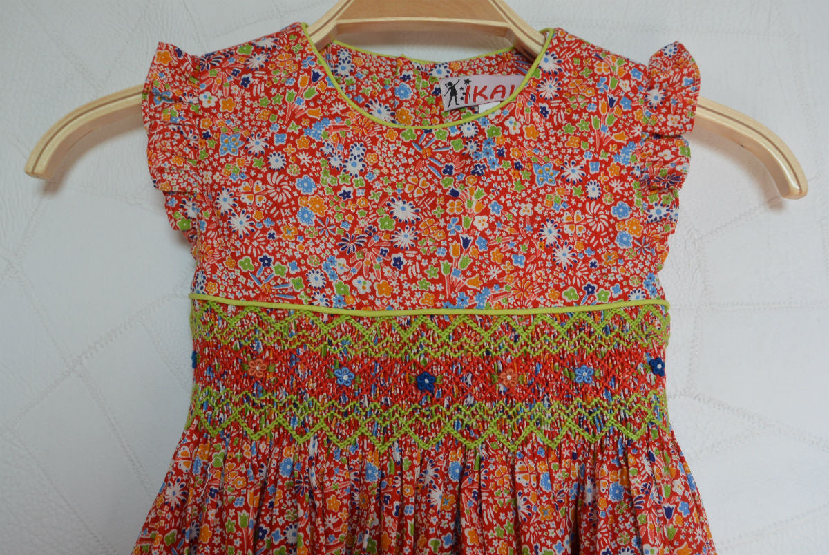 Robe fleurie orange