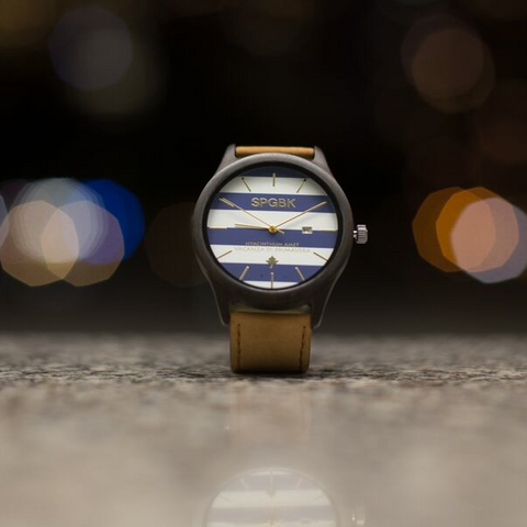 SPGBK Blue + Gold Wood Watch - The Best Minimalist Watch of 2015
