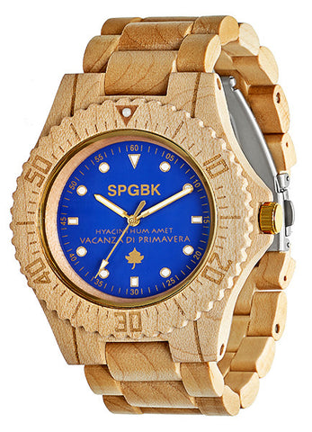 SPGBK Blue Magic Wood Watch